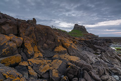 Lindisfarne Castle on Holy Island (Callaghan69) Tags: uk longexposure castle clouds landscape evening coast seaside nikon ruins rocks dusk icon historic northumberland le iconic holyisland lindisfarnecastle northeastengland d7100 tokina1116 nikond7100