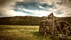 """""""True is it that we have seen better days"""" - Duke Senior (phil.fletch) Tags: mountains canon landscape log cabin colorado valley 70d"""