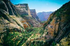 sanctum (α RAINYNEPTUNUS ω) Tags: sunset red cliff rock canon utah sandstone desert cliffs zion zionnationalpark redrock monolith zioncanyon sunglow desertlife desertrocks utahsummer