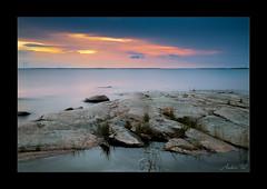 Sunset at Hammar sydspets (AndersWx) Tags: longexposure sunset seascape filter le lee vnern canon5dmarkiii hammarsydspets sigma50mm14art