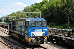 De V203 van de Rurtalbahn. (Ervanofoto) Tags: train nikon zug trains d200 trein treinen olen g2000 dieselloc vossloh rurtalbahn diesellokomotief ervanofoto kopertrein