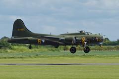 Boeing B-17G Flying Fortress - 4 (NickJ 1972) Tags: anniversary aviation airshow b17 duxford boeing dday flyingfortress dfa 2014 sallyb memphisbelle gbedf 124485