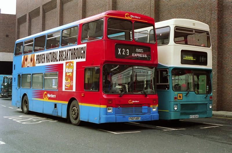 3717 19991015 Go Northern F107 UEF & Arriva Northumbria KYO 624X