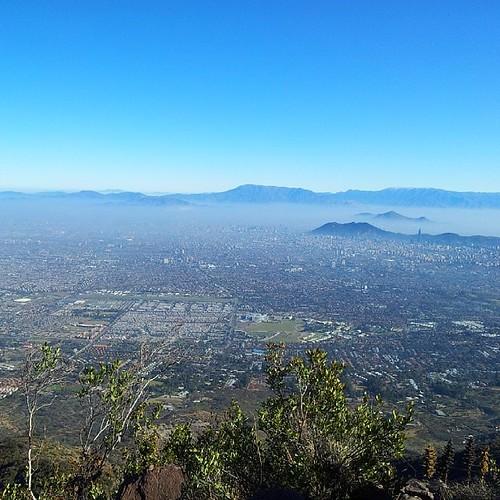 Santiago desde el Cerro La Cruz