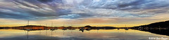 0S1A1007-Edit Panorama (Steve Daggar) Tags: sunset panorama landscape boats yacht waterscape panno