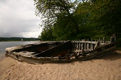 Shipwrecked (RoystonVasey) Tags: wood upload canon eos scotland boat ship angle wide sigma email loch wreck 1020mm roaming lochy 400d