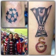 Fun World Cup tattoos on my buddy Burak yesterday #football #soccer #worldcuptattoos #galatasaray #pooch_art #alteredstatetattoo #eldubink #eikonsymbeos