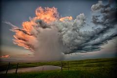 shower before dark (journey ej) Tags: sunset 2 rain clouds hwy northdakota hwy2 elitephotography