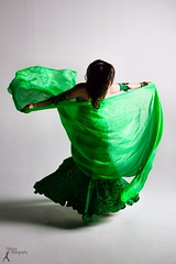 Asala - Black and Green (4) (FightGuy Photography) Tags: green studio movement spin silk bellydancer skirt twirl brunette canon7d fightguyphotography