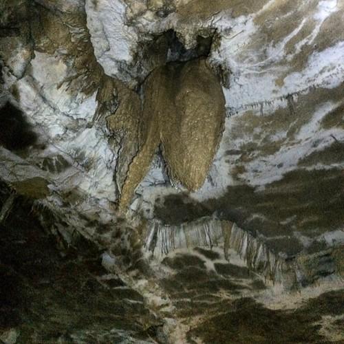 Stalactite dans la grotte