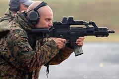 Heckler & Koch G36C (Caliber: 5.56mm NATO) (Donna Rowley) Tags: gun soldier army police swat pistol man men shot shooting firing bullet recoil shotgun automatic wpfg ballykinler gunfire donnarowley donna rowley redonephotography