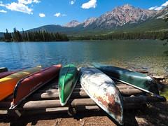 20140730-P7301701 (suuze84) Tags: summer lake canada canoe alberta pyramidlake