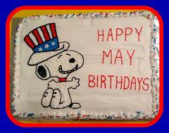 Snoopy cake by Kristine, Linn County, IA, www.birthdaycakes4free.com