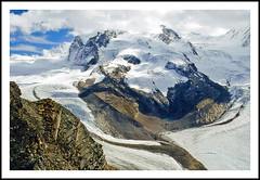 Lofty Swiss Alps at the Gornergrat - 1994 (sjb4photos) Tags: switzerland suisse schweiz swissalps monterosa gornerglacier gornergrat
