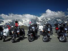 Vespa Alp Days (Ostseeleuchte) Tags: vespaalpdays2015 vespa holidaymemories alpen alps grossglockner beideredelweisshütte