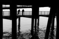 Pier Fishermen (ROSS HONG KONG) Tags: pier santamonicapier fisherman fishermen bay ocean black white blackandwhite noir blanc la santamonica leica monochom monochrome