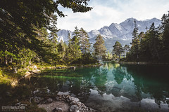 Eibsee (Steffen Walther) Tags: steffenwalther alpen alps hiking trekking wandern eibsee travel bavaria zugspitze europe canon5dmarkiii canon1740l polarizer outdoors emerald lake trees colorful reisefotolust wanderlust bayern germany
