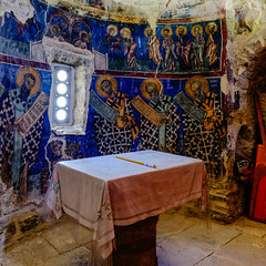 The Altar (George Plakides - Off for a few days) Tags: katolefkara cyprus archangelmichael church altar sanctuary frescoes wallpaintings byzantine art candle