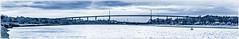 Erskine Bridge HSS (1 of 1) (ianmiddleton1) Tags: erskinebridge riverclyde panorama monochrome bowling hss sliderssunday