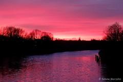 Sonnenuntergang am Teltowkanal (Sockenhummel) Tags: fuji x30 fujifilm finepix sonnenuntergang dawn sunset teltowkanal kanal wasser flus berlin