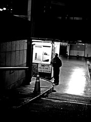 Stood , Alone... (HARU1231) Tags: streetphoto snapshot snap street streetportrait candid city urban blackandwhite monochrome people life digital panasonicgf1 daejeon southkorea