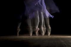 Movement (tombo68) Tags: dance ballet tombo68 movement longexposure dress flash purple pointe dancer canon legs indoor grace graceful