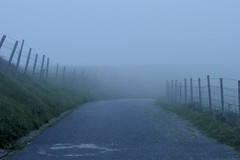 foggy foggy (anetxu25) Tags: fog foggy street nature grass road mood fear relax landscape north basque country summer season weather springtime