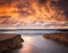 An unexpected surprise (tara.bowen) Tags: whalebeach sydney nsw australia beach sunrise sand clouds canon