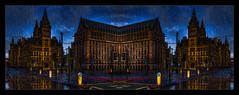 28 Days Later (Kevin, Mr Manchester) Tags: architecture building canon1855mm citycentre england hdr lancashire manchester mirrorimage northwest outdoor panorama panoramic photoborder postprocessing