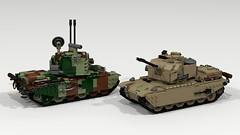 Wirbelwind/Sufa SPAAG (Lego Pilot) Tags: lego ldd tank spaag aa centurion shot povray dc