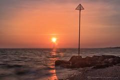 SUNDOWNERS (mark_rutley) Tags: leeonsolent leeonthesolent sunset solent sea coast rocks hampshire fawley