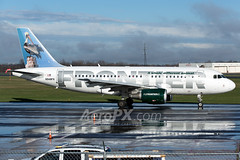 Frontier Airlines Airbus A319-111 - N948FR (AeroPX) Tags: aeropx airbusa319 caryliao ewing frontierairlines kttn n948fr nj newjersey petethepelican ttn trentonmercercountyairport