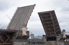 Raising of the Burnside Bridge (Orbmiser) Tags: 55200vr d90 nikon oregon portland spring raising bridge willametteriver burnsidebridge waterfront