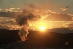 Happy Easter! (RPahre) Tags: oldfaithful yellowstone yellowstonenationalpark sunset clouds