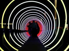 Inner Circle (Alex L'aventurier,) Tags: montreal montréal quebec canada street art rue people silhouettes couleurs colors night nuit creative urbain urban géométrie geometry cercles circles lumière light ronds