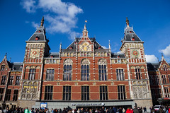 Amsterdam Centraal Station (evasimonyi) Tags: red amsterdam netherlands volendam tulips traveling flowers cheese