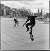 Jump(er)s (Ordinary Extraordinary World) Tags: skateboard bmx jump monochrome bw blackandwhite film analog ilford ilfotec ddx fuji neopan acros 100 bronica sqai zenzanonps 80mm cityscape people estonia estland eesti tallinn vabaduseväljak square filmdev:recipe=11445 fujineopanacros100 ilfordilfotecddx film:brand=fuji film:name=fujineopanacros100 film:iso=100 developer:brand=ilford developer:name=ilfordilfotecddx