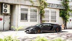 Never Grow Up. (FB CS) Tags: ambo lamborghini aventador avi lp7004 lp700 v12 roadster coupe sv superveloce matte black matteblack nero nemesis carspotting supercar karlsruhe