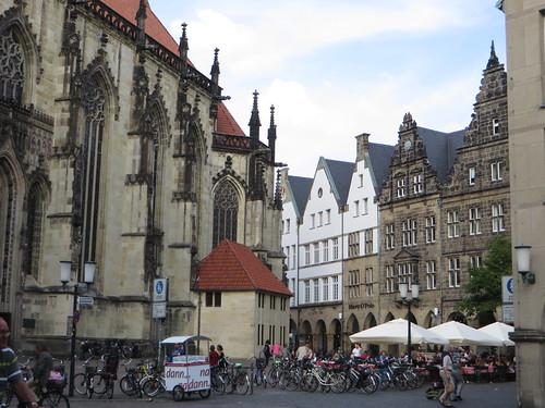 Lambertikirchplatz, Münster, Rhénanie-du-Nord-Westphalie, Allemagne.