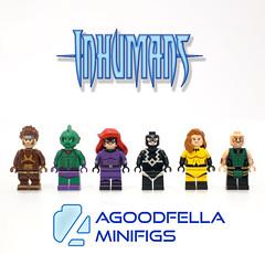 Inhumans v.2 [COMICS] [CUSTOM] [MOC] (agoodfella minifigs) Tags: lego marvel marvellego legomarvel minifigures marvelcomics comics heroes inhumans blackbolt crystal triton gorgon medusa karnak