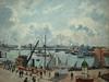 PISSARRO Camille,1903 - L'Anse des Pilotes, Le Havre, Matin, Soleil, Marée montante (Le Havre) - Détail 01