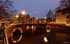 Amsterdam. (alamsterdam) Tags: amsterdam brouwersgracht bridge canal longexposure rfeflection bikes evening
