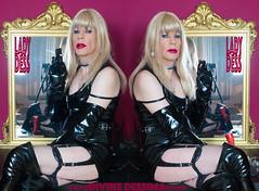 SexyDessCuissardée-DUO2 (Maîtresse DessimA) Tags: blonde pétasse salope garce sexy vinyle lack pvc bas jarretelles stocking résille fishnet gants gloves cuissardes thighboots
