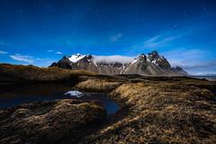 Plutonic Mountain (CResende) Tags: moonlight vestrahorn iceland night longexposure light moon stars sand mountain snow d810 cresende travel dune reflection 1424 nikon stokksnes
