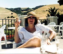 Nancy, Domaine Carneros (Bill in DC) Tags: ca california 1991 film canon eos660 kodacolor smp3 napa domainecorners