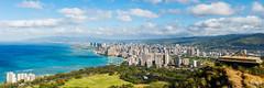 Honolulu from Diamond Head (davidgevert) Tags: d800 nikond800 nikon2470mmf28 panorama nikonpanorama honolulu diamondhead oahu hawaii islandparadise travelphotography blueskies davidgevert gevertphotography