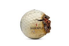 Scorched (Bill Hornstein) Tags: ball burned charred fire golf golfball hot melt scorched