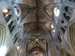 Nave & Crossing, Worcester Cathedral (Aidan McRae Thomson) Tags: worcester cathedral worcestershire architecture medieval gothic ceiling vault vaulting