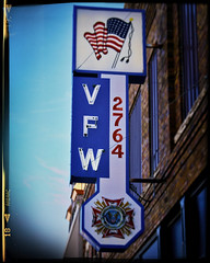 2764 (Pete Zarria) Tags: northdakota sign veterans vfw foreign wars military club group veteran neon