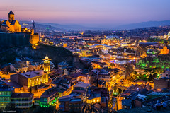 Tbilisi (Laszlo Horvath.) Tags: tbilisi night blue hour georgia city colors capital